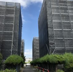 千葉県成田市公共工事 枠組先行手摺足場仮設(12,000㎡)