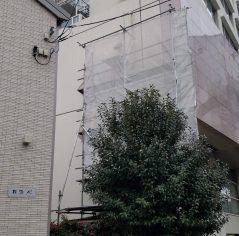 東京都 渋谷区 配管設備用 足場仮設工事