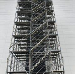 茨城県牛久市 荷取ステージ足場組立